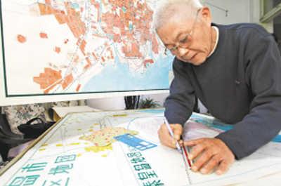 冯怀志:老人七旬手绘12张地图城区(图)吟慕封面设计图片