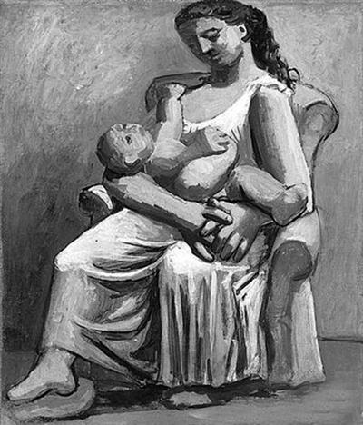 毕加索作品《母爱》 据外媒报道,抽象派大师毕加索逝世至今高清图片